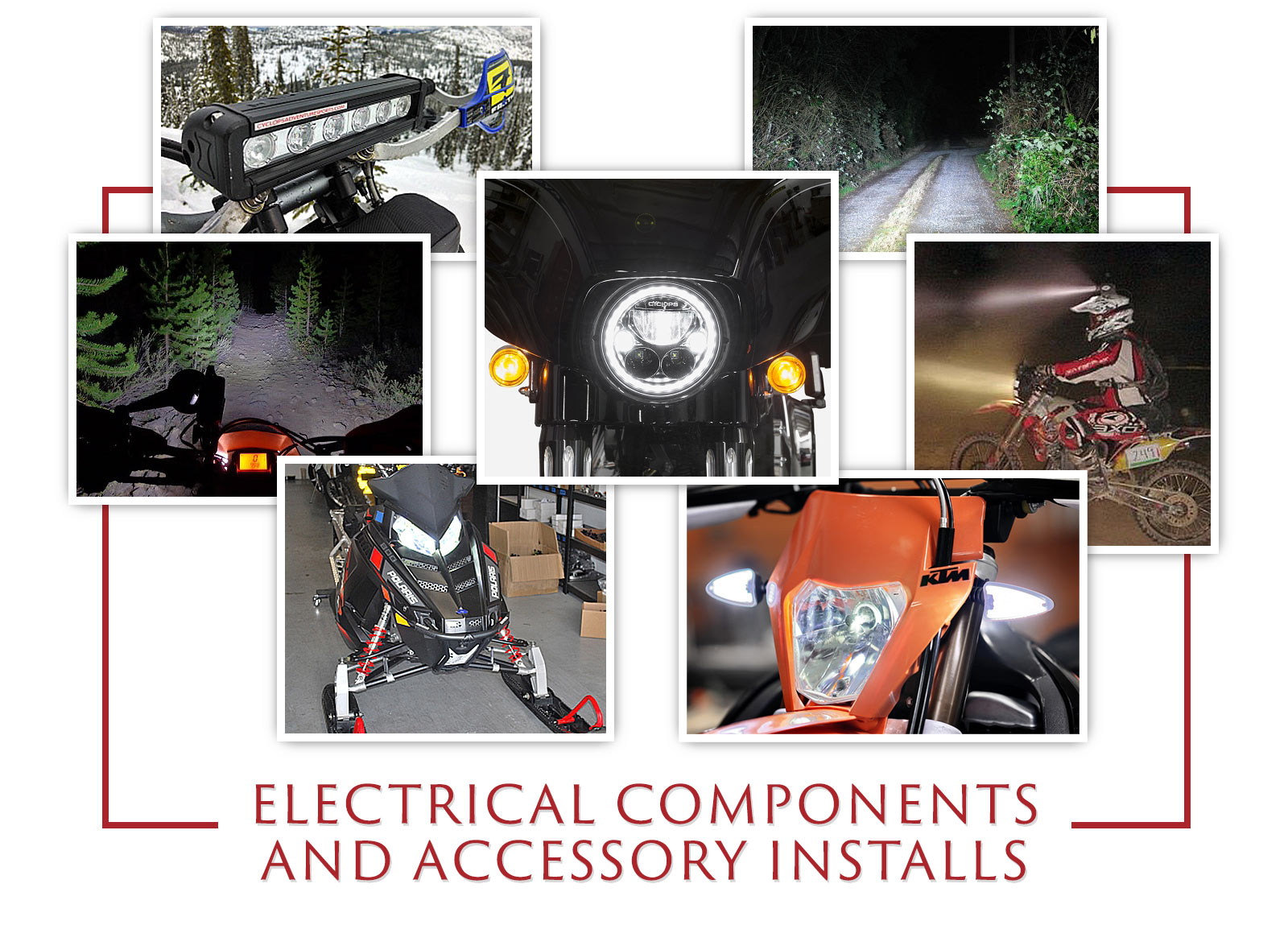 Motorcycle Electrical Components and Accessory Installs