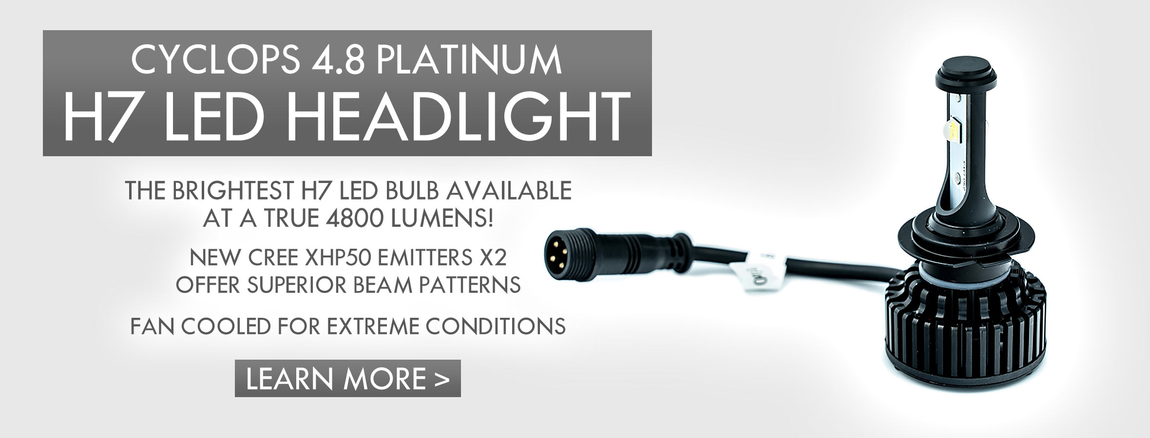 4.8 Platinum H7 LED Headlight Bulb