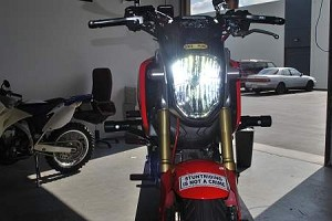 Honda Grom 10.0 lumen LED headlight kit.